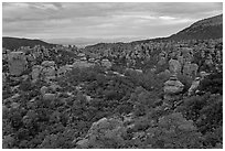 Massai Point view. Chiricahua National Monument, Arizona, USA (black and white)