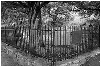 Historic pioneer cemetery. Chiricahua National Monument, Arizona, USA ( black and white)