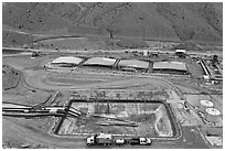 Copper mining installations, Morenci. Arizona, USA ( black and white)