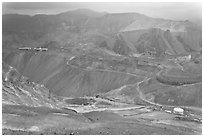 Copper mining operation, Morenci. Arizona, USA ( black and white)