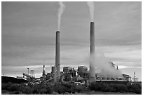 Coal fired power plant, Joseph City. Arizona, USA (black and white)