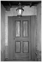 Door, Old Tucson Studios. Tucson, Arizona, USA (black and white)