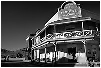 Saloon, Old Tucson Studios. Tucson, Arizona, USA (black and white)