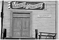 Dentist shop, Old Tucson Studios. Tucson, Arizona, USA (black and white)