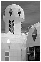 Tower. Biosphere 2, Arizona, USA (black and white)