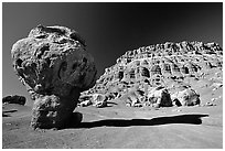Mushroom rock near Page. Arizona, USA (black and white)