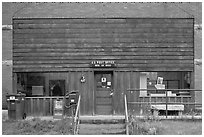 Post office, Rico. Colorado, USA (black and white)