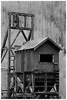 Historic mining structure, Rico. Colorado, USA (black and white)