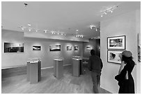 Art gallery. Telluride, Colorado, USA (black and white)