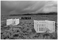 Graveyard, Villa Grove. Colorado, USA ( black and white)