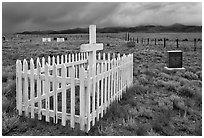 Cemetery, Villa Grove. Colorado, USA ( black and white)