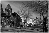 Main street, Estes Park. Colorado, USA (black and white)