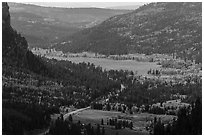 Pagosa Springs valley in autumn. Colorado, USA ( black and white)