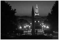 Civic Center Park at dusk. Denver, Colorado, USA ( black and white)