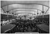Interior, Denver International Airport. Denver, Colorado, USA ( black and white)