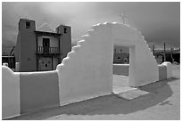 San Geronimo (St Jerome) church. Taos, New Mexico, USA (black and white)