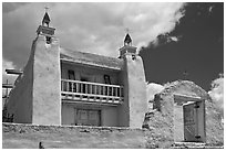Church of Santo Tomas Del Rio de Las Trampas. New Mexico, USA (black and white)