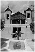 Chapel, Chimayo sanctuary. New Mexico, USA ( black and white)
