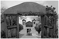 Chimayo Shrine. New Mexico, USA (black and white)