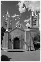 San Felipe de Neri church. Albuquerque, New Mexico, USA ( black and white)