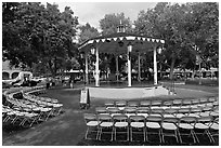Gazebo, old town plazza. Albuquerque, New Mexico, USA ( black and white)