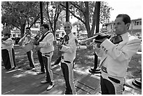 Mariachi musicians. Albuquerque, New Mexico, USA ( black and white)