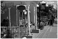Stores, old town. Albuquerque, New Mexico, USA ( black and white)