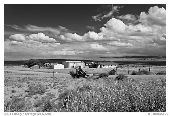 Crowpoint. New Mexico, USA (black and white)