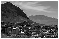 View of downtown. Nevada, USA ( black and white)