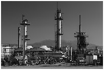 Refinery. Nevada, USA (black and white)