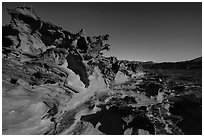 Little Finland, afternoon. Gold Butte National Monument, Nevada, USA ( black and white)