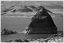 Pyramid. Pyramid Lake, Nevada, USA (black and white)