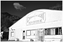 Truth centers, Pioche. Nevada, USA ( black and white)