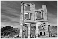 Ruins, Rhyolite ghost town. Nevada, USA (black and white)