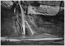 Lower Calf Creek Falls. Grand Staircase Escalante National Monument, Utah, USA ( black and white)
