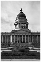 Utah Capitol. Utah, USA ( black and white)