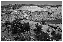 Cockscomb Fault and Yellow Rock. Grand Staircase Escalante National Monument, Utah, USA ( black and white)