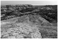 Yellow Rock Valley, dusk. Grand Staircase Escalante National Monument, Utah, USA ( black and white)