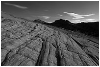 Yellow Rock cross-bedding by moonlight. Grand Staircase Escalante National Monument, Utah, USA ( black and white)