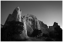 Grosvenor Arch at dawn. Grand Staircase Escalante National Monument, Utah, USA ( black and white)