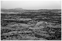 Expanses of sandstone, sunset. Grand Staircase Escalante National Monument, Utah, USA ( black and white)