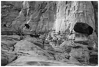 Caprocks and cliffs. Grand Staircase Escalante National Monument, Utah, USA ( black and white)