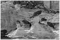 Caprocks, Rocks, and cliffs. Grand Staircase Escalante National Monument, Utah, USA ( black and white)