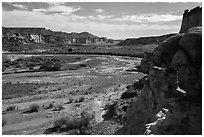 Wahweap Wash. Grand Staircase Escalante National Monument, Utah, USA ( black and white)