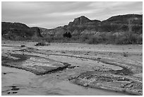 Paria River. Grand Staircase Escalante National Monument, Utah, USA ( black and white)