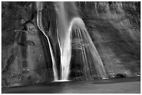 Lower Calf Creek Falls bottom tier. Grand Staircase Escalante National Monument, Utah, USA ( black and white)