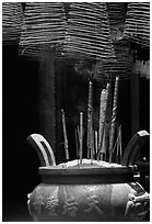 Incense stick and coils. Cholon, District 5, Ho Chi Minh City, Vietnam (black and white)