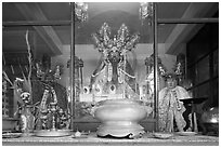 Deified General Quan Cong, Tam Son Hoi Quan Pagoda. Cholon, District 5, Ho Chi Minh City, Vietnam ( black and white)