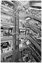 Shopping center. Ho Chi Minh City, Vietnam ( black and white)