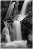 Waterfall detail, Fairy Stream. Mui Ne, Vietnam (black and white)